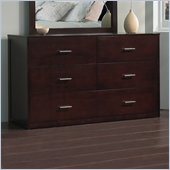 Modus Modera Six Drawer Dresser in Chocolate Brown