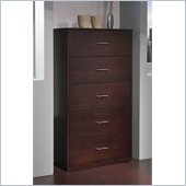 Modus Modera Five Drawer Chest in Chocolate Brown