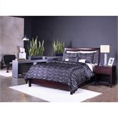 Modus Nevis Low Profile Storage Bed in Espresso 4 Piece Bedroom Set