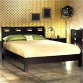 Modus Nevis Riva Modern Platform Bed 2 Piece Bedroom Set in Espresso