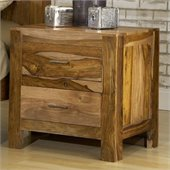 Modus Atria Nightstand in Natural Sheesham