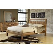 Modus Atria Platform Bed in Natural Sheesham
