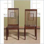 Modus Palindrome Slat Back Chair in Chestnut (Set of 2)