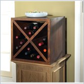 Modus Palindrome Wine Storage Cube in Chestnut