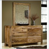 Modus Atria Dresser and Mirror Set in Natural Sheesham Finish