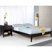 Modus Furniture Nevis Simple Platform Bed in Espresso 3 Piece Bedroom Set 