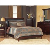 Modus Furniture City II Faux Leather Storage Bed in Coco 2 Piece Bedroom Set