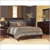Modus Furniture City II Faux Leather Storage Bed in Coco 6 Piece Bedroom Set