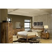 Modus Furniture Atria Platform Bed in Sheesham 2 Piece Bedroom Set