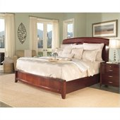 Modus Furniture Brighton Wood Storage Bed in Cinnamon 2 Piece Bedroom Set