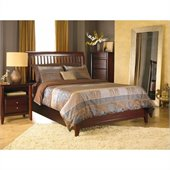 Modus Furniture City II Rake Bed in Coco 4 Piece Bedroom Set