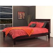 Modus Furniture Nevis Veneto Platform Bed in Espresso 2 Piece Bedroom Set