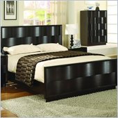 Modus Furniture Maui Wave Birchwood Panel Bed in Chocolate Brown 2 Piece Bedroom Set