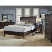 Modus Furniture Urban Loft Leatherette Upholstered 2 Piece Storage Bedroom Set in Chocolate