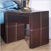 Modus Torino Upholstered Nightstand in Chocolate Leatherette