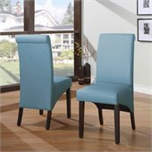 Modus Cosmo Sleigh Back Chair in Sky (Set of 2)