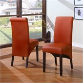 Modus Cosmo Sleigh Back Chair in Sienna (Set of 2)