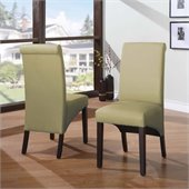 Modus Cosmo Sleigh Back Chair in Kiwi (Set of 2)