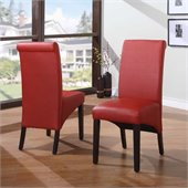 Modus Cosmo Sleigh Back Chair in Ruby (Set of 2)