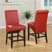Modus Cosmo Sleigh Back Stool in Ruby (Set of 2)