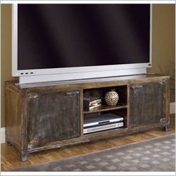Modus Farmhouse Media Console in Antique Walnut