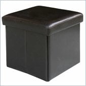 Modus Urban Seating Folding Storage Cube  in Chocolate Leatherette
