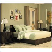 Modus Maui Wave Platform Bed 4 Piece Bedroom Set in Chocolate Brown