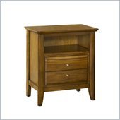 Modus Furniture City II Two Drawer Nightstand in Pecan