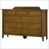 Modus Furniture City II Nine Drawer Dresser in Pecan