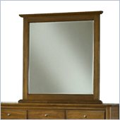 Modus Furniture City II Beveled Glass Mirror in Pecan
