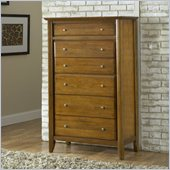 Modus Furniture City II 6 Drawer Chest in Pecan