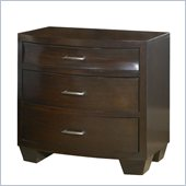 Modus Furniture Contour Three Drawer Nightstand in Ebony