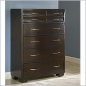 Modus Furniture Contour Six Drawer Chest in Ebony 