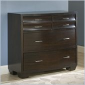 Modus Furniture Contour Four Drawer Media Chest in Ebony 