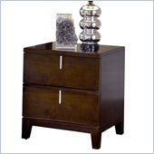 Modus Furniture Legend Wood Two Drawer Nightstand in Chocolate Brown
