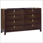 Modus Furniture Legend Wood Eight Drawer Dresser in Chocolate Brown