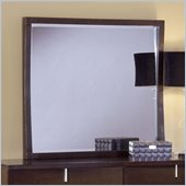 Modus Furniture Legend Wood Square Mirror in Chocolate Brown