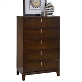 Modus Furniture Legend Wood Five Drawer Chest in Chocolate Brown