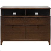 Modus Furniture Legend Wood 2 Drawer 2 Door Media Chest in Chocolate