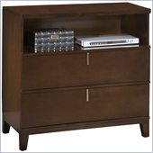 Modus Furniture Legend Wood Two Drawer Media Chest in Chocolate Brown
