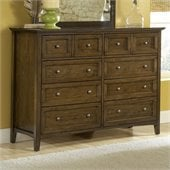Modus Furniture Paragon Eight Drawer Dresser in Truffle