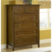 Modus Furniture Paragon Five Drawer Chest in Truffle