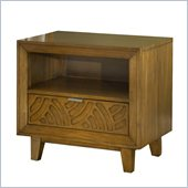 Modus Furniture Trellis One Drawer Nightstand in Pecan
