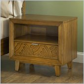 Modus Furniture Trellis One Drawer Charge Station Nightstand in Pecan