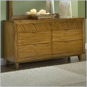 Modus Furniture Trellis Six Drawer Dresser in Pecan