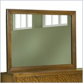 Modus Furniture Trellis Landscape Mirror in Pecan