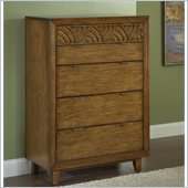 Modus Furniture Trellis Five Drawer Chest in Pecan