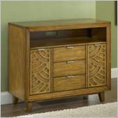 Modus Furniture Trellis Three Drawer Two Door Media Chest in Pecan