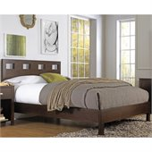 Modus Furniture Riva Platform Bed in Chocolate Brown