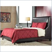 Modus Furniture Full Size Tiffany Platform Storage Bed in Chocolate Leatherette
